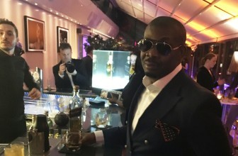 "Don Jazzy stride in a dapper suit at the official welcome cocktail party of ""Gentle Man's Wager II"" première"