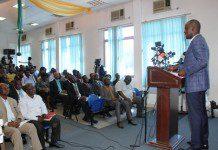 Employment Minister, Mr. Haruna lddrisu held Meet the Press series.
