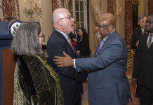 Mrs. Babs Jackson, U.S. Ambassador to Ghana Robert P. Jackson, Ghana's Ambassador to the United States Lieutenant General Joseph Henry Smith