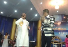 Daddy Lumba and Isaiah Kwadwo Ampong performing on album launch platform