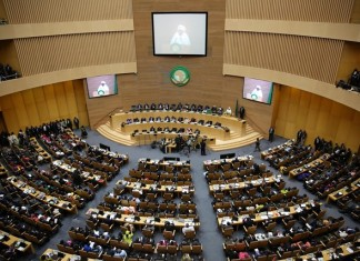 A view of the 26th AU summit is seen in Addis Ababa, capital of Ethiopia, on Jan. 30, 2016. The 26th ordinary session of the African Union (AU) heads of states and governments kicks off on Saturday at the AU Headquarters in Addis Ababa. (Xinhua/Pan Siwei)