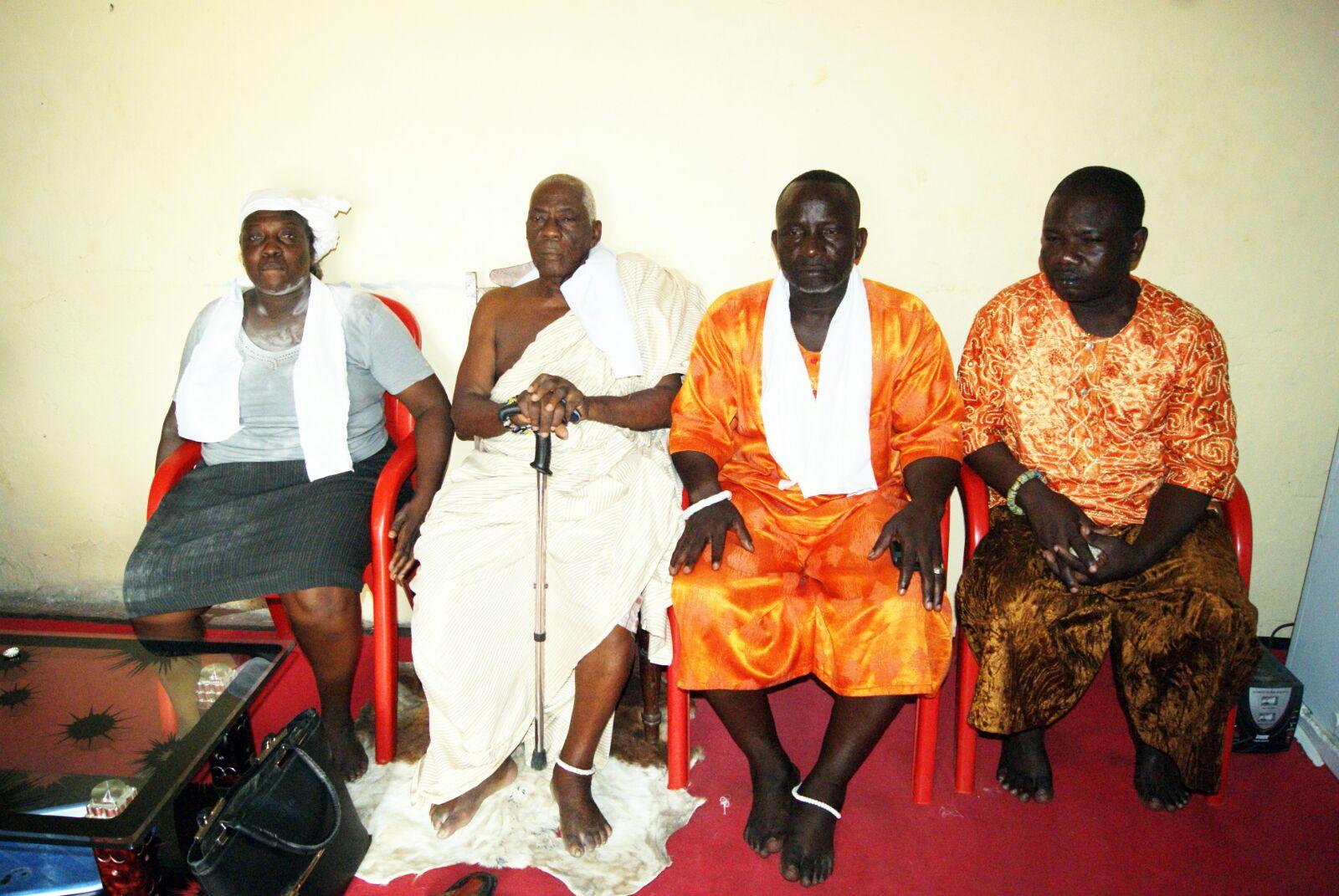 from left, Naa Akushia Codjoe,  Nii Kweikuma Aple Otoo IV  Nii Asharku Ayiku III,