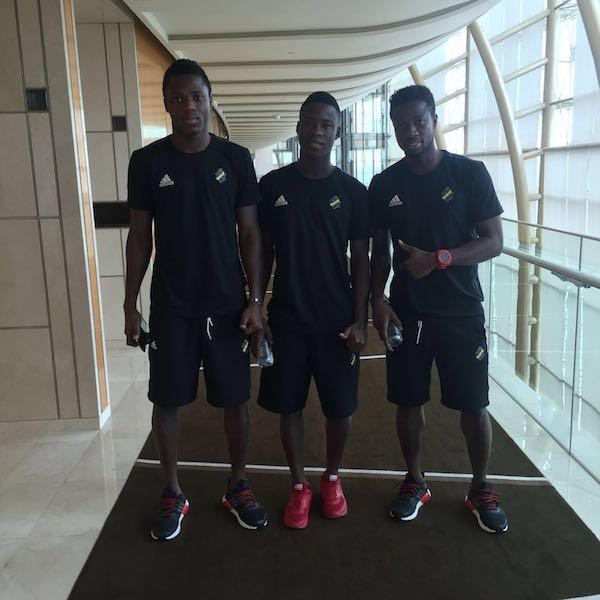 Ghanaian trio Ebenezer Ofori, Patrick Kpozo and Godfred Asiamah.