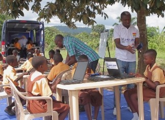 Tigo Ghana E-Library On Wheels