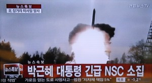 A video grab taken on Feb. 7, 2016 from South Korean TV shows the news report on the launch of a long-range rocket by the Democratic People's Republic of Korea (DPRK), in Seoul, South Korea. The DPRK on Sunday launched a long-range rocket as planned, Yonhap news agency reported citing South Korea's defense authorities. (Xinhua/Jiang Ye)