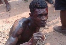 the suspect after receiving some beatings