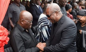 Akufo-Addo and Mahama in a chat