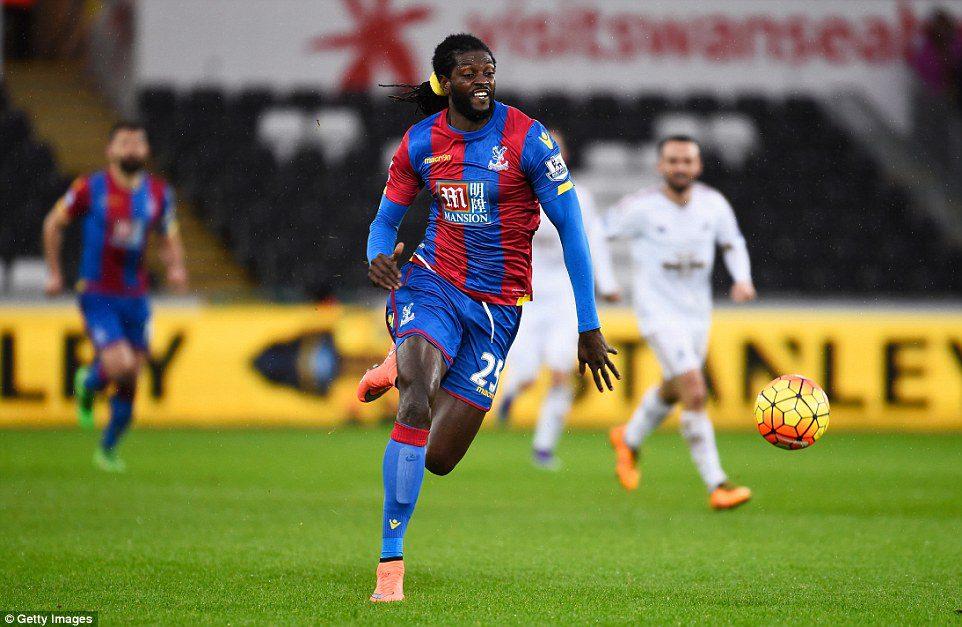 Emmanuel Adebayor made his debut for Crystal Palace