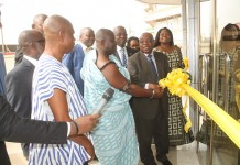 Caption: Board Chairman and Chief of Baatsonaa commissioning the Spintex 2 branch