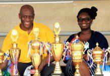 Herbert with trophies