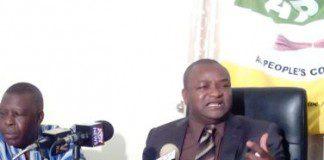 Ayariga addressing the media