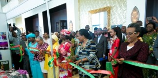MRS MAHAMA AND HER COLLEAGUE FIRST LADIES OPENS EXHIBITION OF LORDINA FOUNDATION