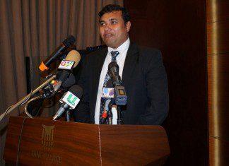 MD Birendra Sasmal addressing them