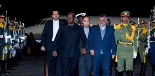 President-Mahama-on-arrival-in-Tehran
