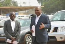 President Mahama presents vehicles to security services