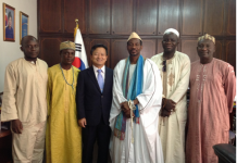 The Council with the Ambassador of South Korea
