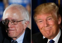 Bernie Sanders (left) and Donald Trump were the winners Tuesday in New Hampshire. Getty Images