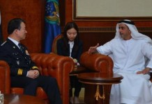 HH Sheikh Saif bin Zayed during his meeting with the Korean official (Photo: ME NewsWire)