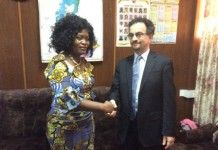 British High Commissioner With Helen Ntoso