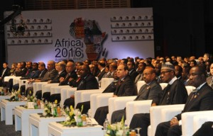 Heads of States and business leaders attending Africa 2016