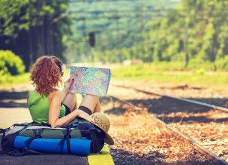 Traveler Map and Backpack