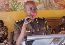 The Ag. Director-General of Prisons addressing the durbar