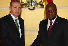 President of Turkey, Recep Tayyip Erdogan with President John Mahama