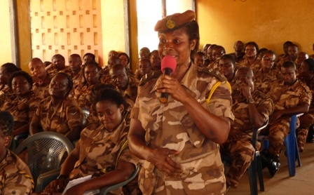 3. A cross-section of subordinate officers at the Director-General Durbar