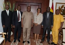 President Mahama in a photograph with the ERERA delegation at the flagstaff house