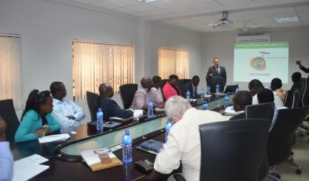 CEO of Terra Energy making a presentation to MoPET, PC and GNPC