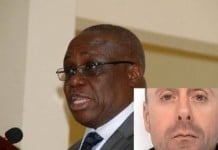 The Governor of the Bank of Ghana Henry Wampah;David McDermott (inset)