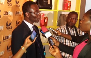 Sarpong briefing the media after the launch