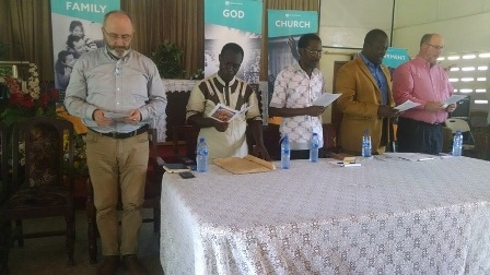 Mr Fred Sakyi Boafo (2nd left) with other dignitaries at the launch