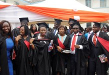 A cross section of the graduands