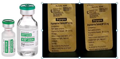Ergometrine, Oxytocin