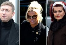 Christopher Maloney, Kerry Katona and Cleo Rocos attended Gest's funeral