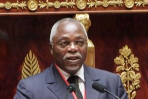 Gabon's Parliament Speaker Guy Nzouba Ndama
