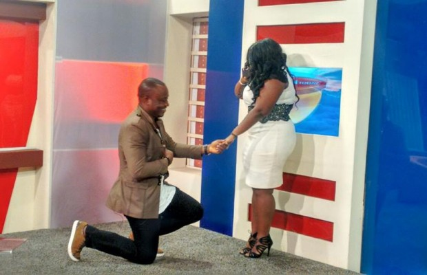 DKB proposing to AJ On TV (1)