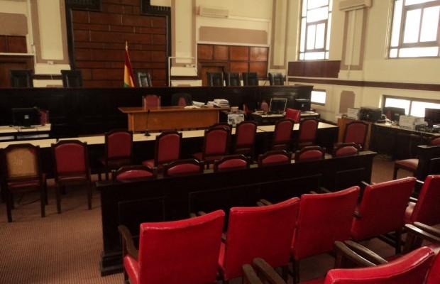 Empty Courtroom-JUSAG Strike