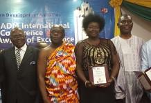 From Left to Right: Prof SKB Asante, HM Ehunabobrim Pra Agyensaim VI, Adebisi Yewande Awoniyi and Dr George Owusu Essegbey Nana Appiah Acquaye