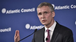 NATO Secretary General Jens Stoltenberg speaks during an Atlantic Council discussion on NATO and stability on April 6, 2016 in Washington, DC.