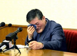 Kim Dong-Chul, who was arrested on espionage charges in October last year, has been sentenced to 10 years with hard labour in North Korea (AFP Photo/)