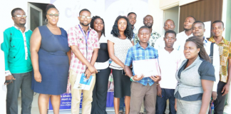 Participants in a group photograph after workshop