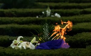 AFP/File / Johannes Eisele The Chinese traditionally observe Qingming by burning paper money or gifts as a way of honouring their departed relatives