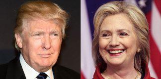 Clinton, Trump
