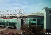 LONDON, May 15, 2016 (Xinhua) -- A file photo taken on April 10, 2015 shows Old Trafford Stadium in Manchester, England. A controlled explosion was carried out on Sunday at the Old Trafford stadium after the ground was evacuated shortly before Manchester United's final league game of the season. (Xinhua/Han Yan)