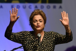 AFP / Evaristo Sao Brazilian President Dilma Rousseff is accused of breaking budgetary laws by taking loans to boost public spending and mask the sinking state of the economy