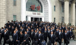 KCNA via KNS/AFP/File / - The 7th Congress of the Workers' Party of Korea (WPK) delegates arrive in Pyongyang on May 3, 2016