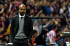 AFP/File / Gerard Julien Pep Guardiola hopes to sign off in charge of Munich by lifting the Champions League trophy at the final on May 28 in Milan