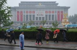 AFP / Ed Jones The April 25 Palace, venue of the Workers' Party Congress, is seen ahead of the event in Pyongyang on May 6, 2016